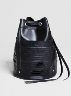 fringe bag black